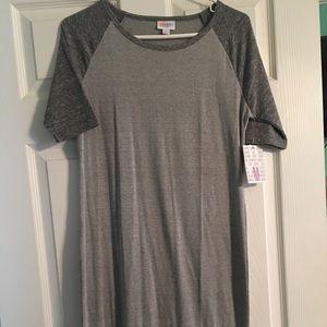 Lularoe Julia M NWT grey Heathered soft raglan top